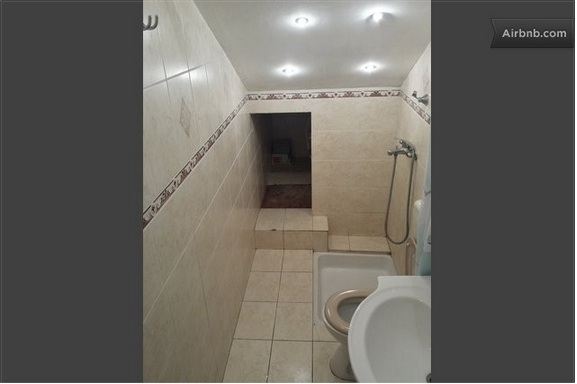 Hole into the bathroom
