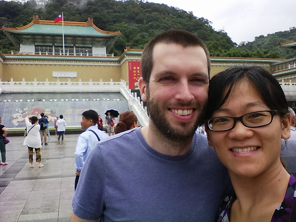 Us in front of the National Palace Museum.